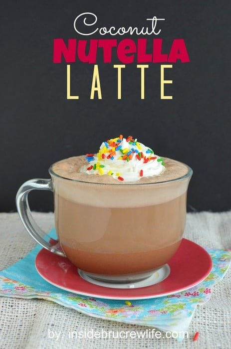 Coconut Nutella Latte