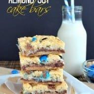 Nutella Almond Joy Cake Bars