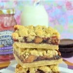 Peanut Butter & Jelly Crumb Bars