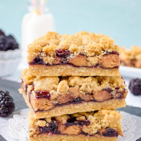 Easy Peanut Butter & Jelly Crumb Bars