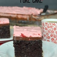Strawberry Fudge Poke Cake