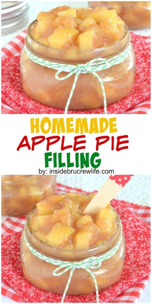 Homemade Apple Pie Filling - this easy pie filling comes together in minutes. Make this easy recipe for fall pies or desserts! #apple #homemade #piefilling #easy #recipe #fall #pie #appledesserts #applepie
