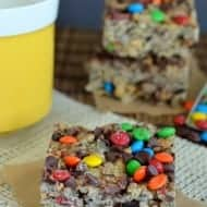 Monster Cookie Rice Krispie Treats