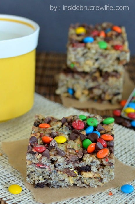 Monster Cookie Rice Krispie Treats 3