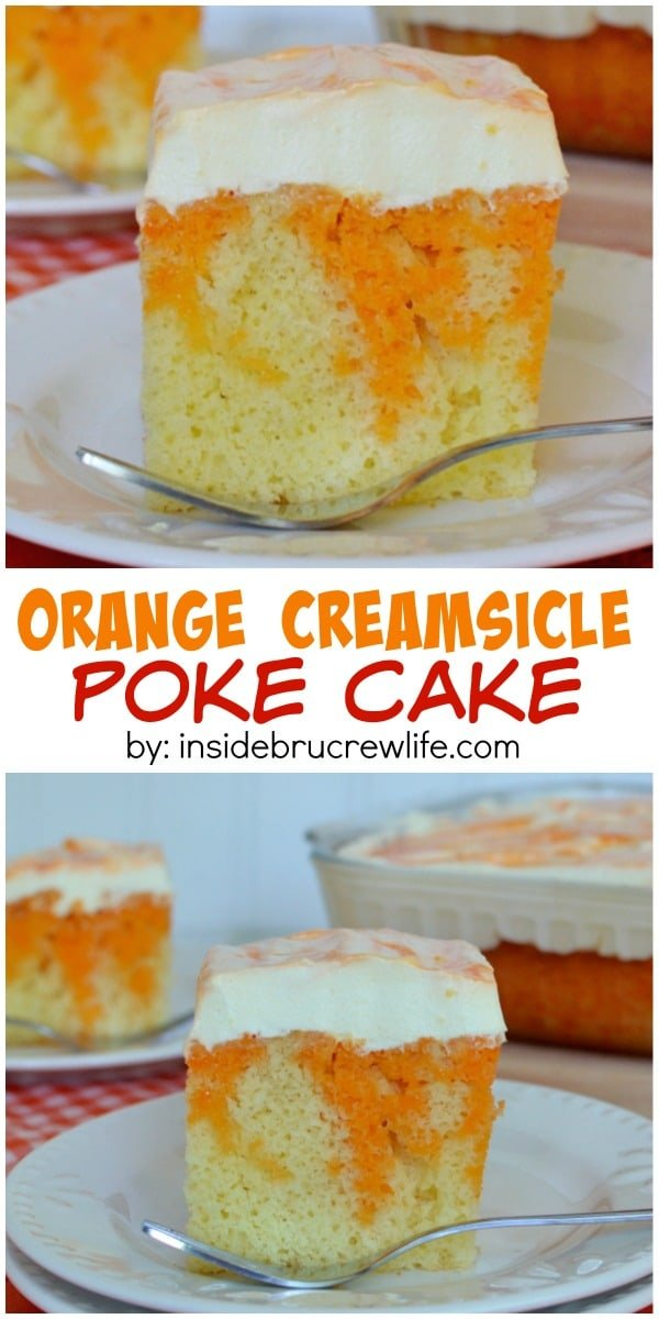 This orange and creamy cake is the perfect dessert to share with your friends and family. You won't have any left!