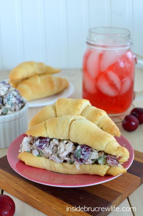 Cherry Walnut Chicken Salad - fresh berries, nuts, and cilantro add a fun twist to this dinner recipe!