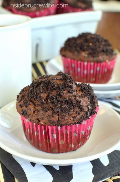 Mocha Cookies & Cream Muffins