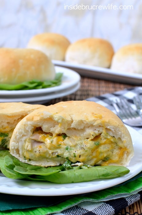 Spinach Artichoke Chicken Biscuits