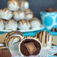 Chocolate Peanut Butter Cup Cookie Dough Truffles