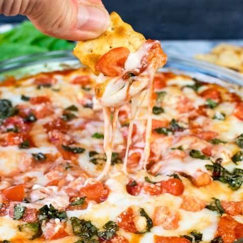 Tomato Basil Pizza Dip