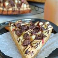 Peanut Butter Apple Pizza