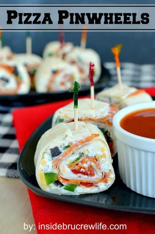 Pizza Pinwheels from Inside BruCrew Life