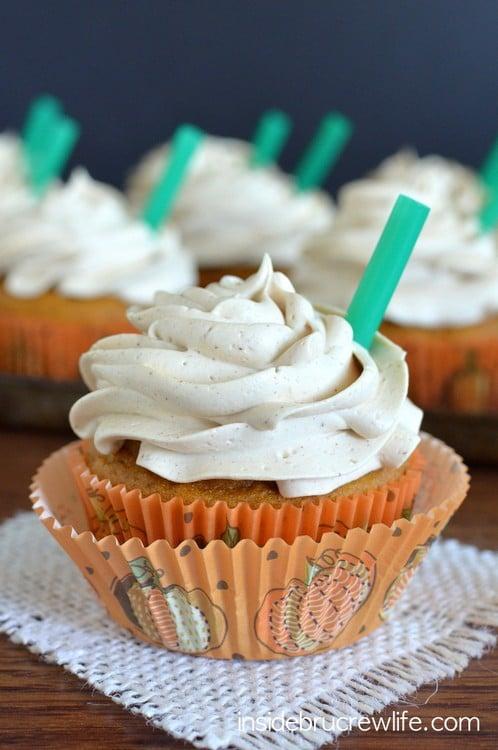 Pumpkin Spice Latte Cupcakes 1-1