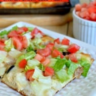 Southwest Ranch Chicken Bacon Club Pizza