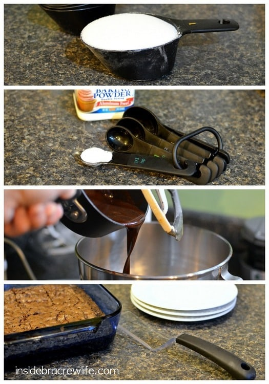 Homemade Chocolate Chip Brownies - dark, rich brownies will help satisfy those chocolate cravings http://www.insidebrucrewlife.com