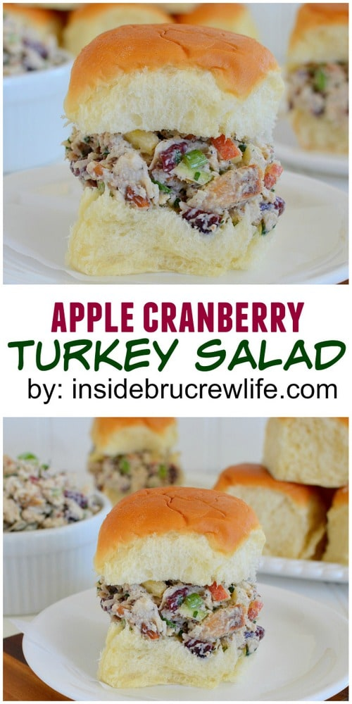 Apples and cranberries  make this a delicious way to use up that leftover turkey!