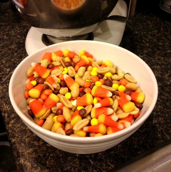 Candy Corn Reese's Peanuts