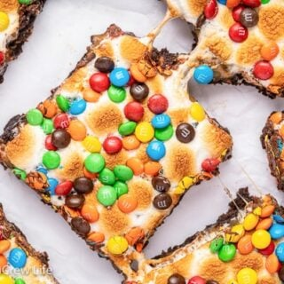 Caramel Marshmallow M&M Brownies Recipe