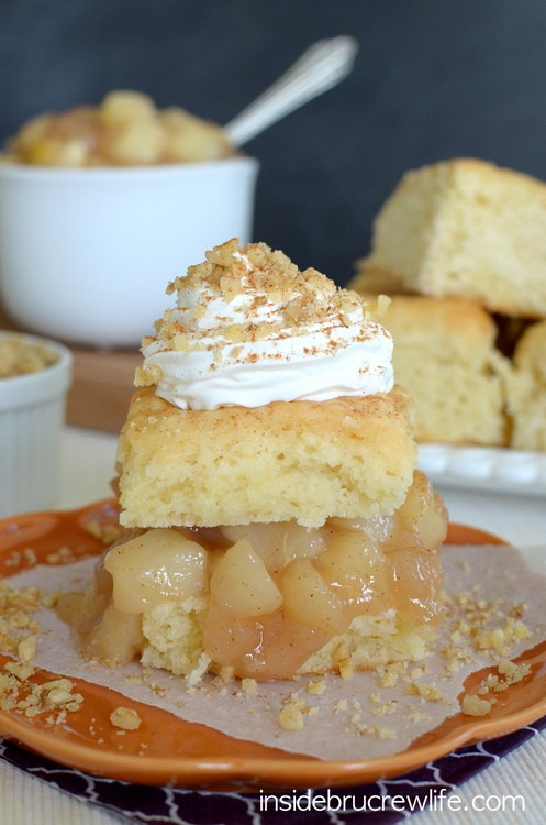 Maple Pear Shortcakes - easy homemade maple pear filling served on pre-made shortcakes www.insidebrucrewlife.com
