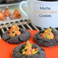 Mocha Pumpkin Spice Cookies