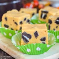 Pumpkin Cookies and Cream Fudge Recipe