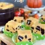 Pumpkin Cookies and Cream Fudge