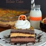 Pumpkin Fudge Eclair Cake