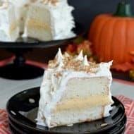 Pumpkin Toffee Angel Food Cake