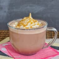 Homemade Salted Caramel Mocha Latte