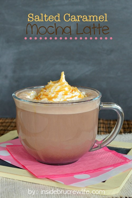 Salted Caramel Mocha Latte - an easy copycat of the fabulous fall drink