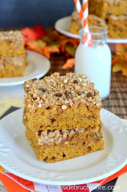 Brown butter, pumpkin, and streusel make this coffee cake an amazing fall breakfast.