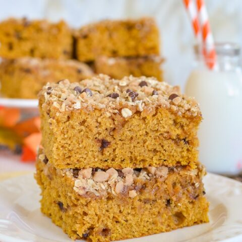 Brown Butter Pumpkin Streusel Coffee Cake