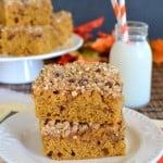 Brown Butter Pumpkin Streusel Coffee Cake