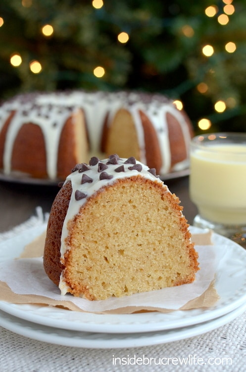 Two times the eggnog makes this Eggnog Cake a delicious addition to your holiday parties.