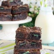 Fudge Mint Gooey Brownie Bars