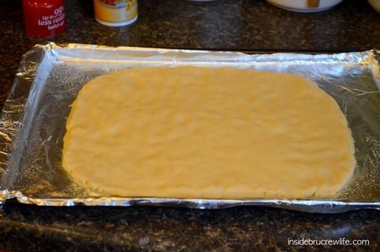 Pam spray dough