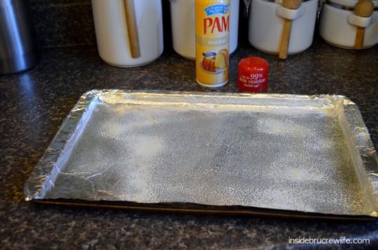 Pam spray pan