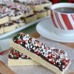 Peppermint Shortbread Bar Cookies