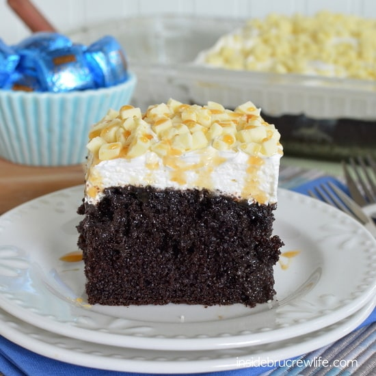 White Chocolate Caramel Poke Cake 4