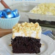 White Chocolate Caramel Poke Cake