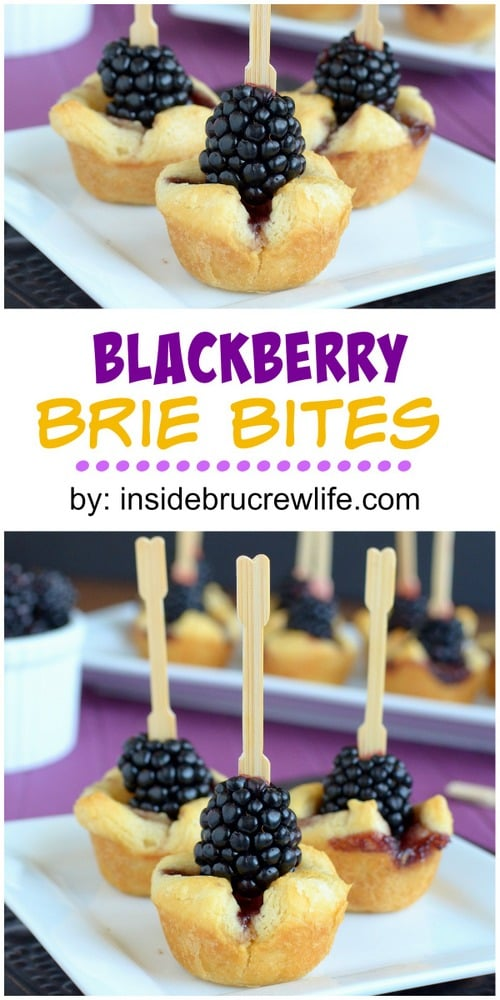 Blackberries and brie cheese make a delicious and easy appetizer