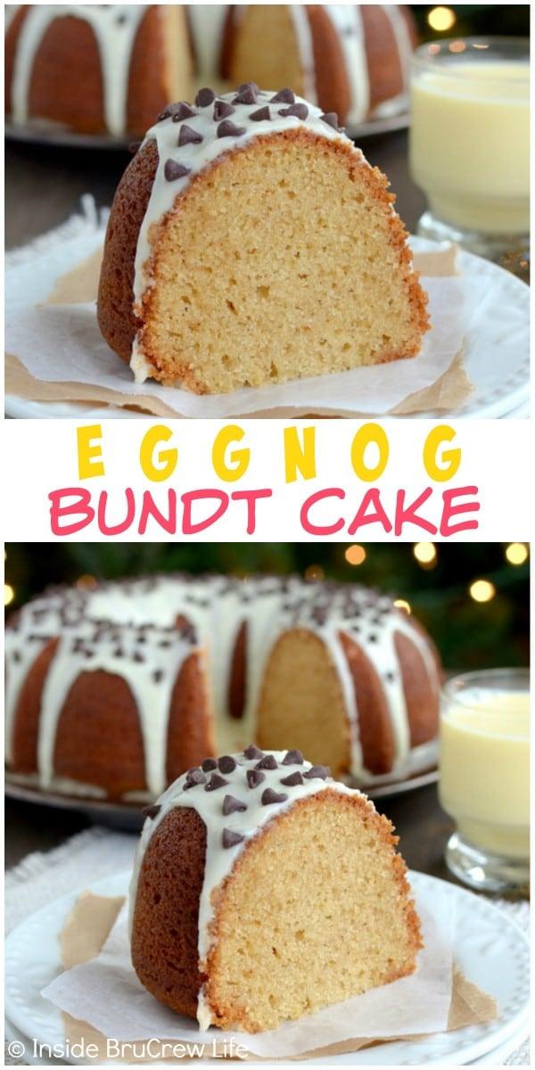 Eggnog Cake - two times the eggnog makes this cake a dream come true for eggnog lovers.