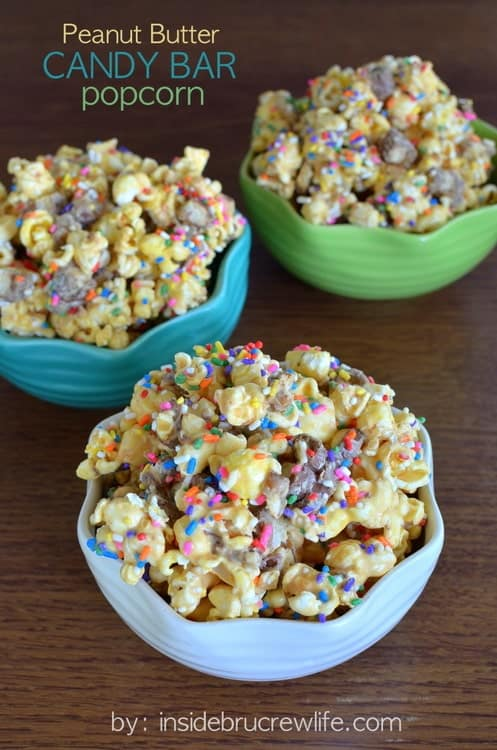 Peanut Butter Candy Bar Popcorn title