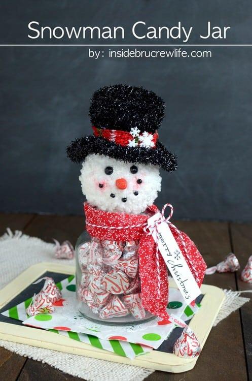 Snowman Candy Jar | Inside BruCrew Life