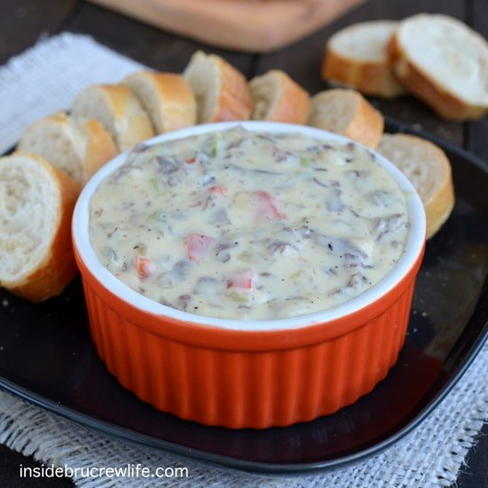 Philly Cheese Steak Queso Dip