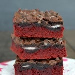 Red Velvet Oreo Fudge Bars