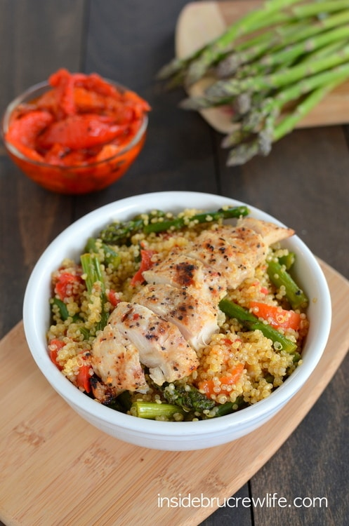Roasted Red Pepper and Asparagus Quinoa