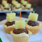 Tropical Meatball Crescent Cups