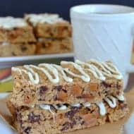 White Chocolate Caramel Granola Bars