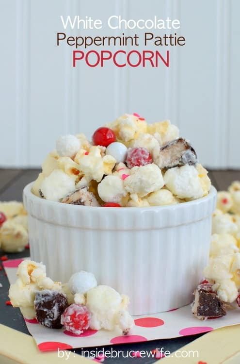 Chocolate Peppermint Pattie Popcorn - the combo of chocolate covered ...